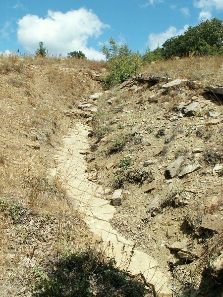 Vyschlé koryto potoka